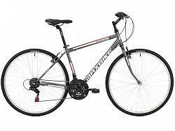 Krosový bicykel MAXBIKE Basic sivý - veľ. rámu 18