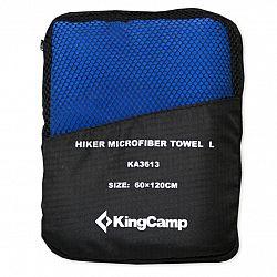 Multifunkčný rýchloschnúci uterák KING CAMP 60 x 120 cm modrý