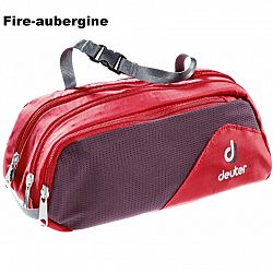 Toaletná taška DEUTER Wash Bag Tour II - fire-aubergine