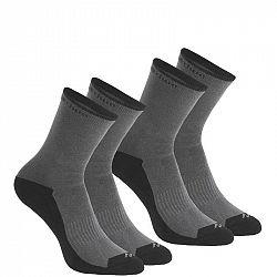 QUECHUA Ponožky Nh100 High 2 Páry