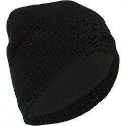 WEDZE Lyžiarska čiapka Pure čierna
